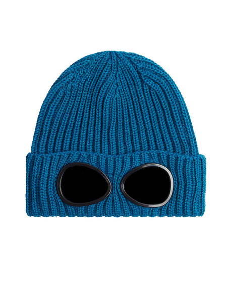 Extra Fine Merino Wool Goggle Beanie in Bluejay