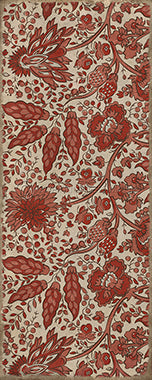 Vinyl Floorcloth - Garden Gate Floral