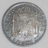 1818 Large Silver Coin Mexico 8 Reales Mint Mark Mo Assayer JJ Ferdinand VII of Spain Toned Very Fine or Much Better