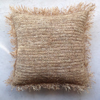Raffia Fringed Cushion Cover