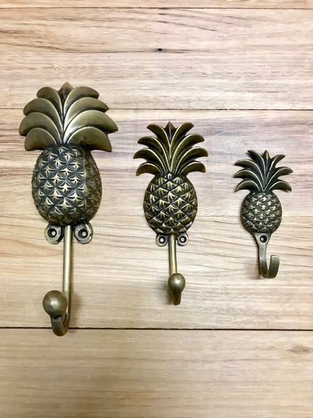 Brass Pineapple Hooks - Small, Medium and Large