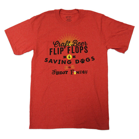 Craft Beer Flips Flops & Saving Dogs my Sunday Funday T-shirt