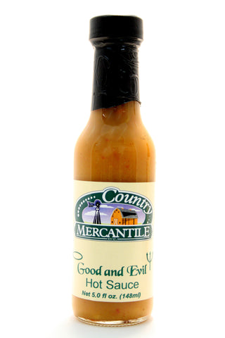 Country Mercantile Good and Evil Hot Sauce. Net Wt. 5 oz.