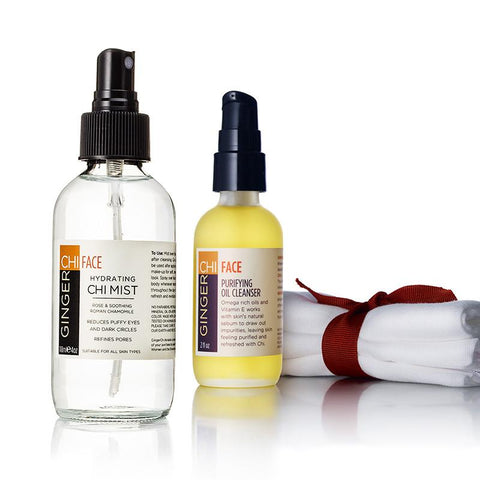 Purifying Face Cleanser + Hydrating Chi Mist + Muslin Face Cloth Set