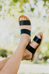 THE ATHENA SLIDE IN BLACK