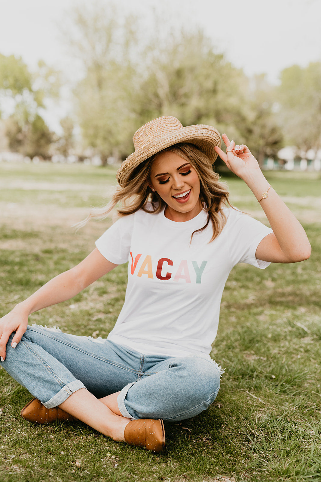 THE VACAY TEE IN WHITE