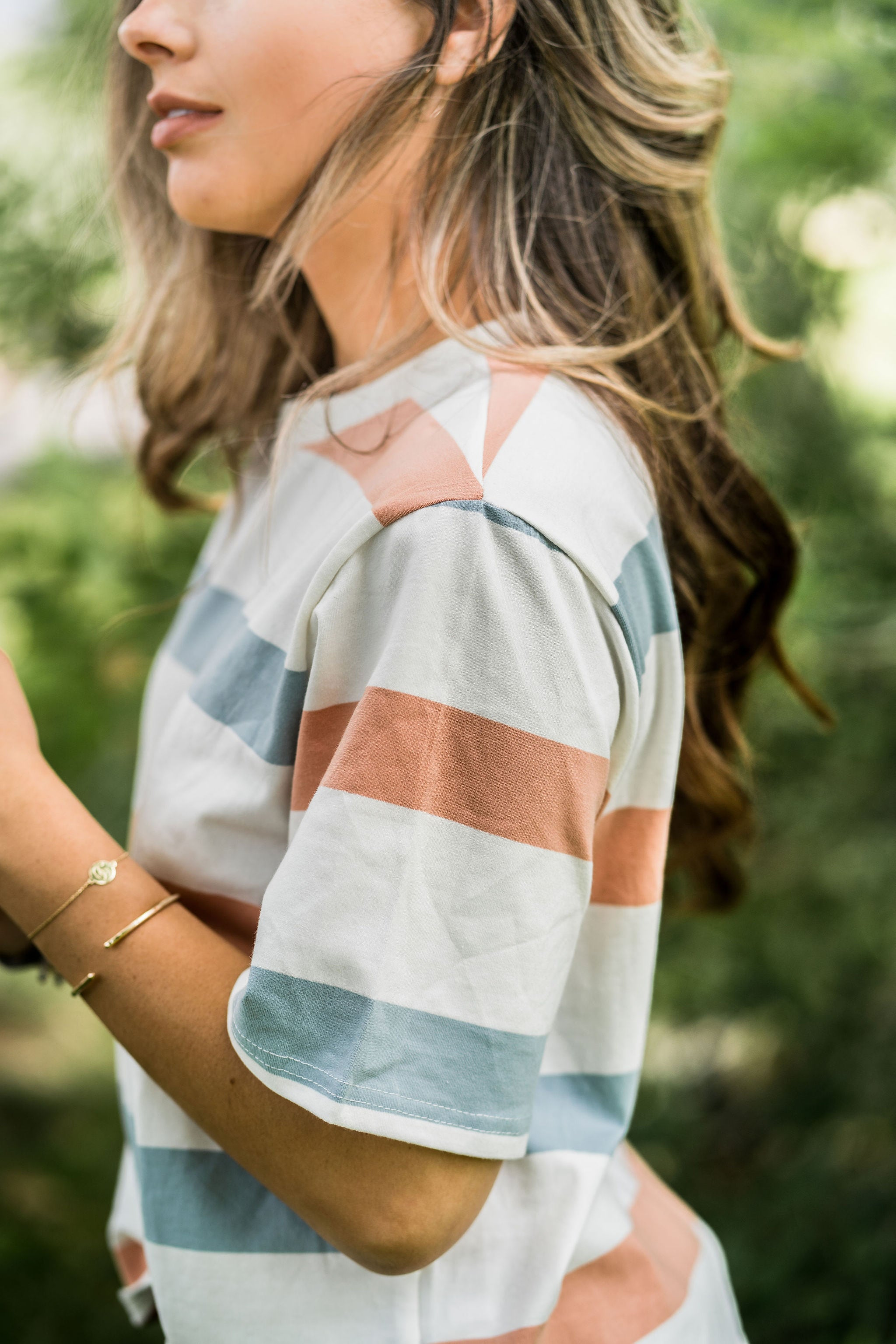 THE SADIE STRIPED TEE IN WHITE