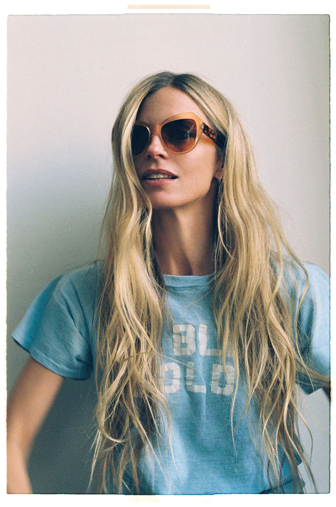 Laura Bailey in ZAZOU sunglasses