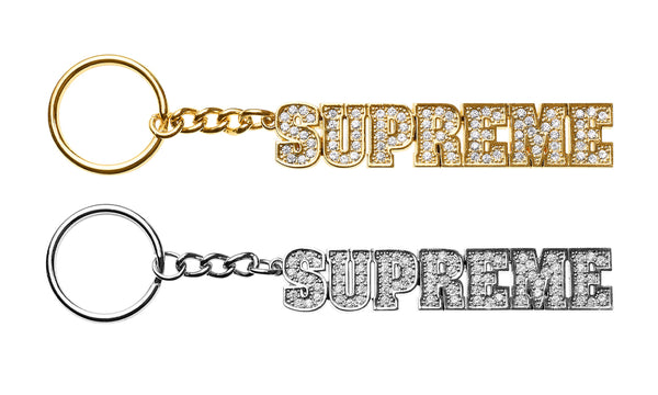 Supreme Block Logo Keychain - zero's world sneakers store los angeles melrose round two flight club supreme