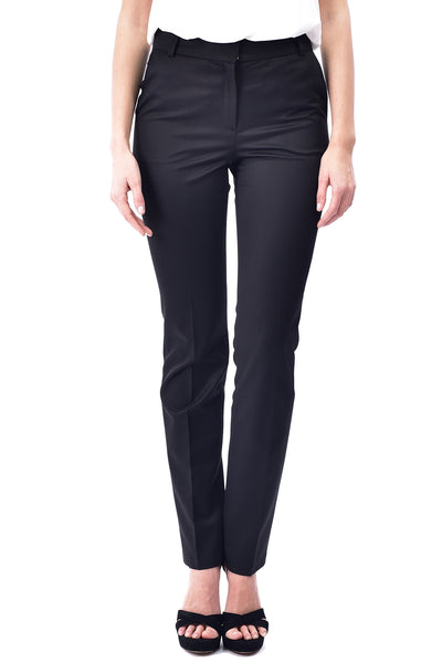 Pantaloni conici office negru P2904