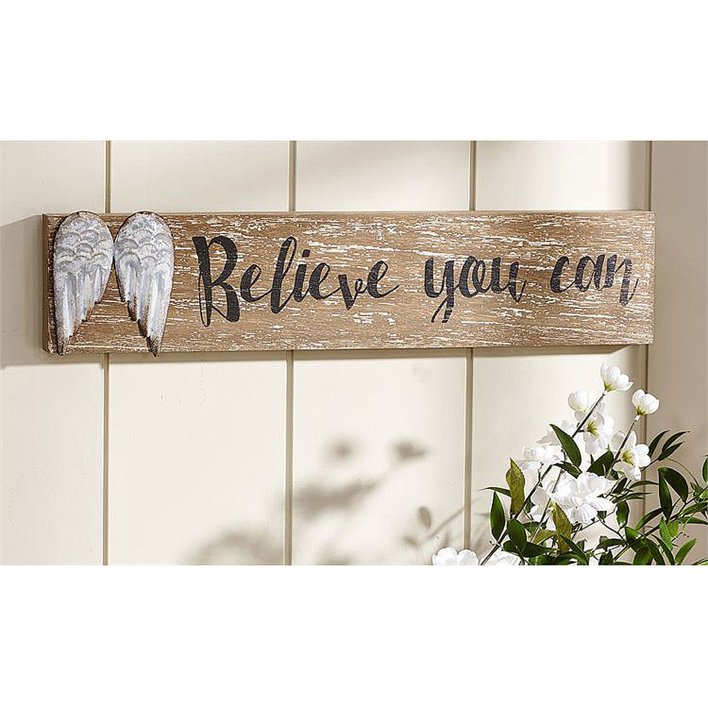 Angel Wings Design Wall Plaque