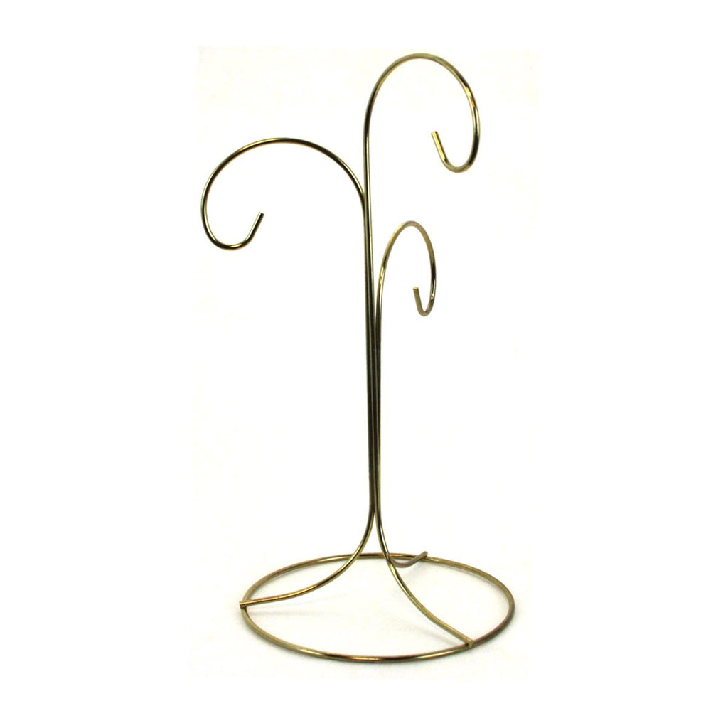 "10.5"" 3 Arm Ornament Stand Gold"