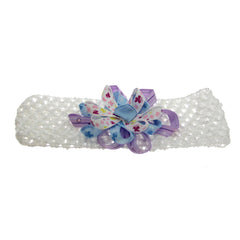 Baby Headband Blue Flower