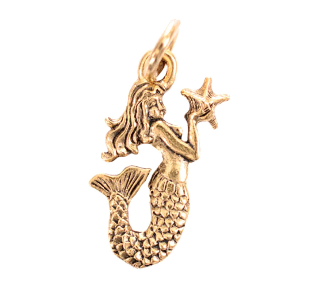 Mermaid Gold Character Charm