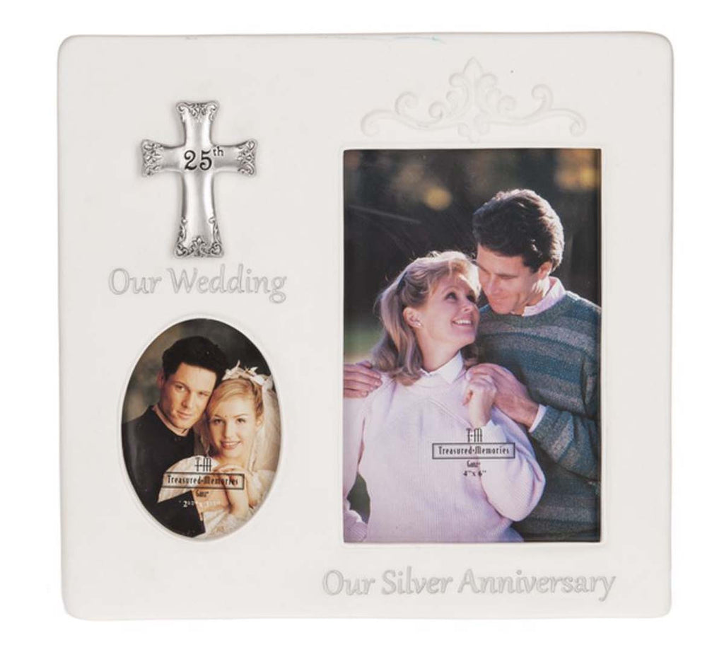 Anniversary Blessing - Then & Now Frame - 25th