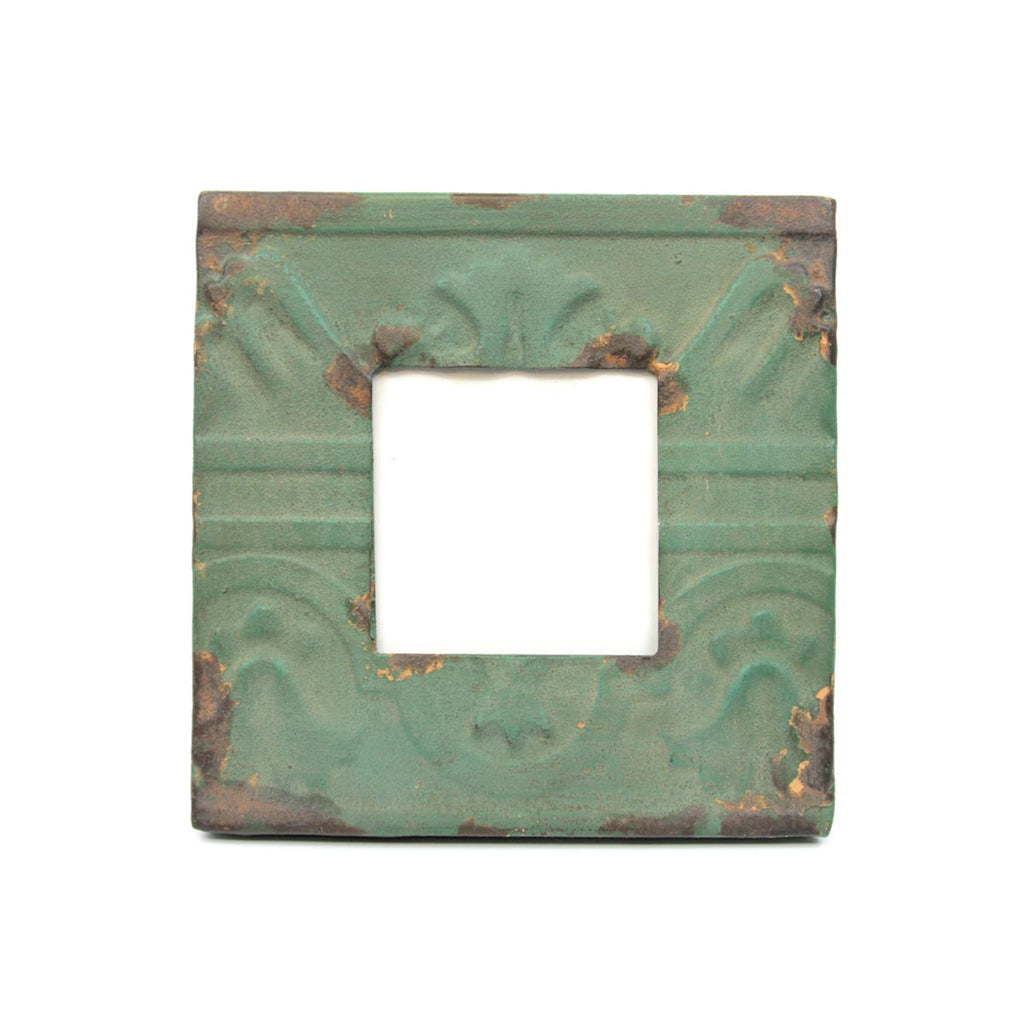 Antiqued Impressions Pressed Tile Photo Frame - Green