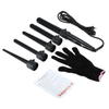 5 Professional Curling Wand Set 85W 100-240V with Heat Resistant Glove Black,  - My Make-Up Brush Set, My Make-Up Brush Set  - 1