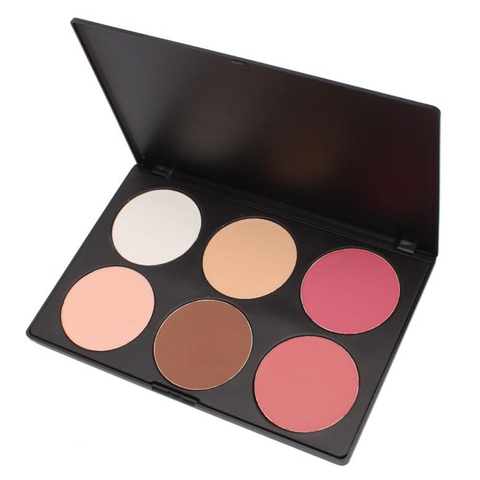Pink and Peach 6 Color Blush Palette