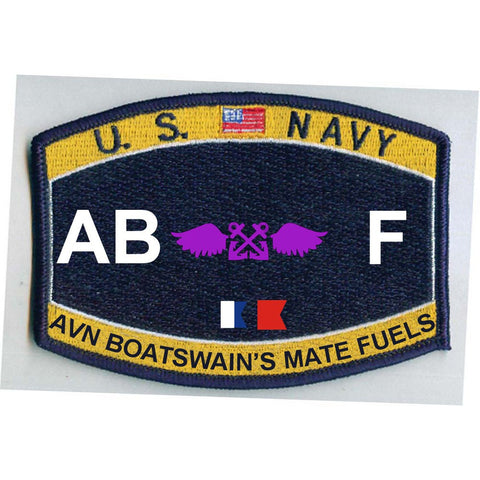 AB F - Aviation Boatswain's Mate Fuels Navy Rating Patch