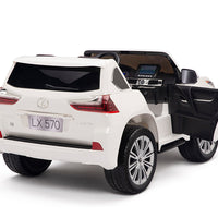Toddler Power Wheels Lexus LX570 with Remote Control in White