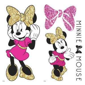 Minnie Mouse Plus Glitter Peel and Stick Decals