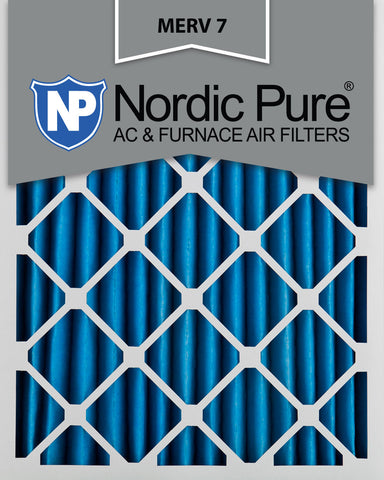 10x20x2 Pleated MERV 7 AC Furnace Filters Qty 12 - Nordic Pure