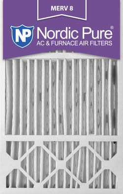 16x25x5 Honeywell Replacement Pleated MERV 8 Air Filters Qty 2 - Nordic Pure