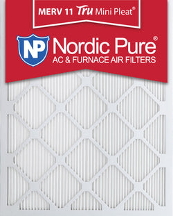 20x25x1 Tru Mini Pleat MERV 11 AC Furnace Air Filters Qty 3 - Nordic Pure