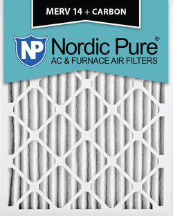 10x20x2 MERV 14 Plus Carbon AC Furnace Filters Qty 3 - Nordic Pure
