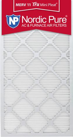 24x30x1 Tru Mini Pleat MERV 11 AC Furnace Air Filters Qty 3 - Nordic Pure