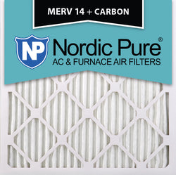 12x12x1 MERV 14 Plus Carbon AC Furnace Filters Qty 12 - Nordic Pure