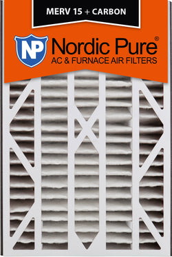 16x25x3 Air Bear Cub Replacement MERV 15 Plus Carbon Qty 7 - Nordic Pure
