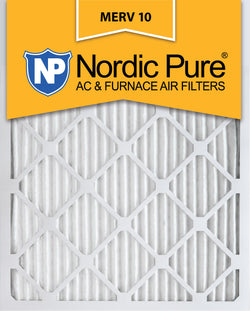 12x20x1 Pleated MERV 10 AC Furnace Filters Qty 12 - Nordic Pure