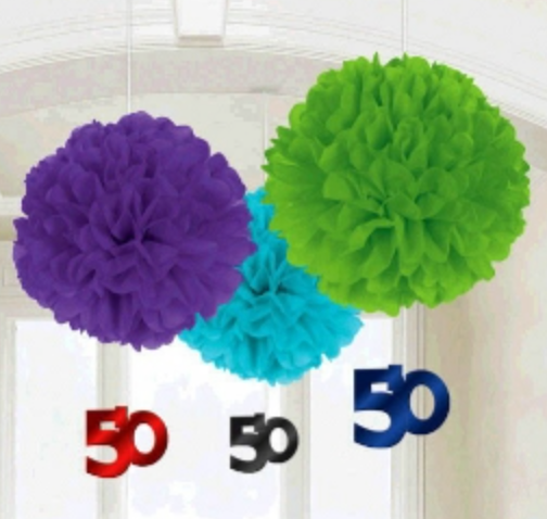 50th Fluffy Decorations