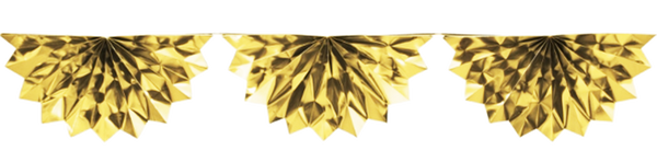 Gold Foil Bunting Decoration