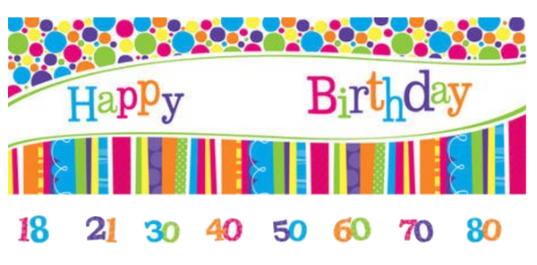Giant Birthday Banner - Customise