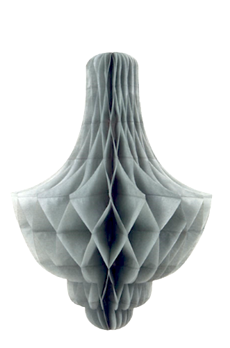 Silver Chandelier Honeycomb Decoration