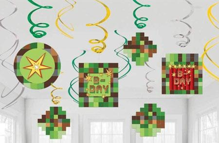 Minecraft TNT Swirl Decorations