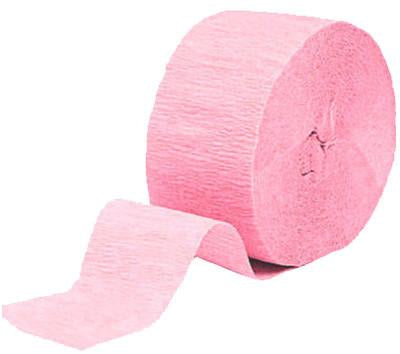 Classic Pink Paper Streamer