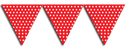 red Bunting Party Flags