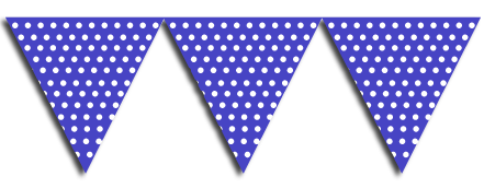 Royal Blue Bunting Party Flags