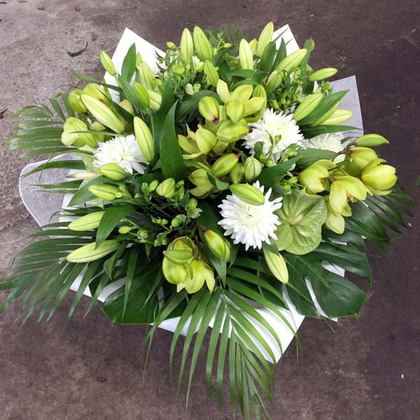 Green & White Stunning Bouquet