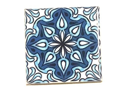 Hand Printed Ceramic Tiles 4.8 x 4.8 cm - Pattern 52 (HM)