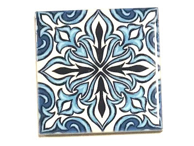 Hand Printed Ceramic Tiles 4.8 x 4.8 cm - Pattern 53 (HM)