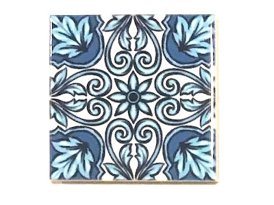 Hand Printed Ceramic Tiles 4.8 x 4.8 cm - Pattern 54 (HM)