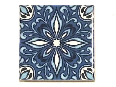 Hand Printed Ceramic Tiles 4.8 x 4.8 cm - Pattern 56 (HM)