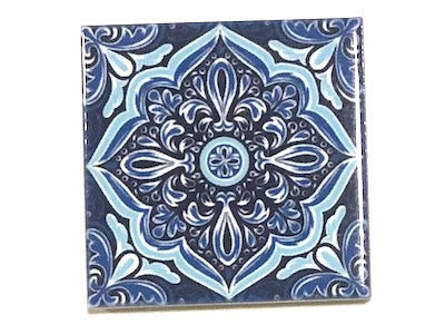 Hand Printed Ceramic Tiles 4.8 x 4.8 cm - Pattern 58 (HM)