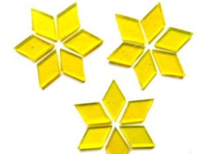 Transparent Yellow Stained Glass Diamonds