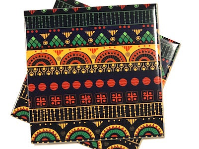 Tribal Inspired 10x10cm Ceramic Tiles - Pattern 3