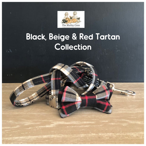 black beige & red tartan collection